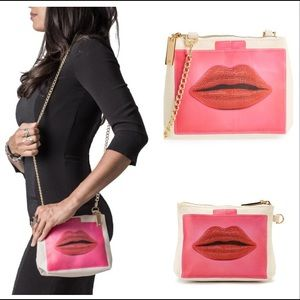Thursday Friday Away Mini Clutch, Lips in Pink
